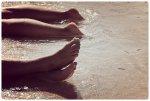 Stopy w morzu