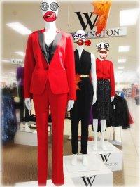 manekiny z ubraniami w sklepie