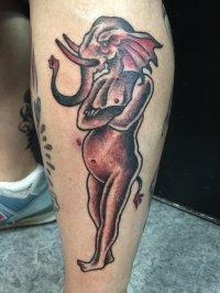 Kolorowy tatuaż